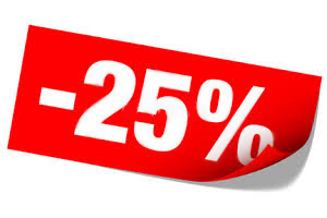 -25% скидки в честь Праздника!